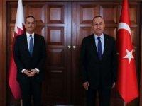 Bakan Çavuşoğlu Katar Dışişleri Bakanı Thani ile görüştü