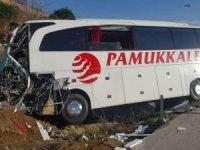Ankara'da yolcu otobüsü yandı