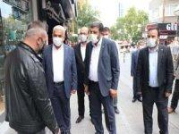 Yapıcıoğlu Bursa'da esnaf ziyaretinde bulundu