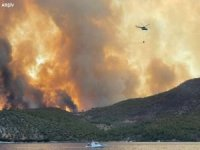 Anamur ilçesinde orman yangını