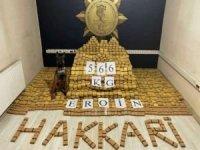 Hakkâri'de 566 kilogram eroin ele geçirildi