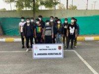 Batman'da 12 düzensiz göçmen yakalandı