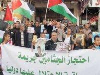 Rehin alınan şehit naaşlarının geri alınması talebiyle Ramallah'ta gösteri