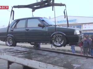 Şahin, Aracına Özel motor taktırdı